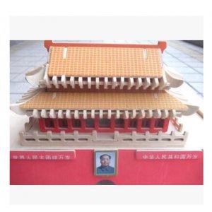 成人益智木制仿真模型 儿童手工diy拼装立体拼图 北京天安门