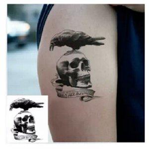 敢死队纹身贴 鹰骷髅纹身 部队 花臂 防水纹身贴纸 成本促销